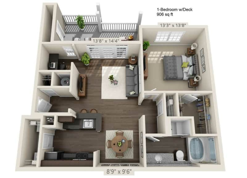 Greystone Vista One Bedroom Floor Plan