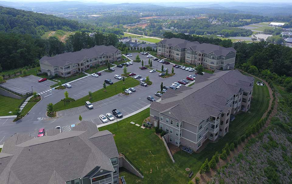 Greystone Apartments Knoxville, TN aerial view