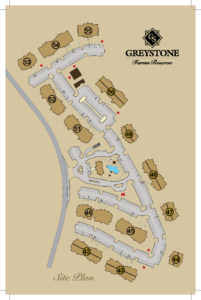 Greystone Farms Reserve Site Plan showing layout of all buildings