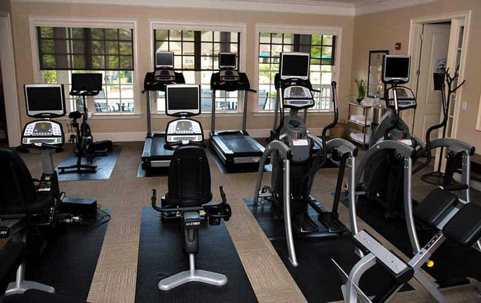 fully equipped gym Greystone farms Reserve Columbus GA Apartments