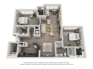 GREYSTONE POINTE APARTMENTS IN KNOXVILLE TN two bedroom floor plan sunroom detached garage