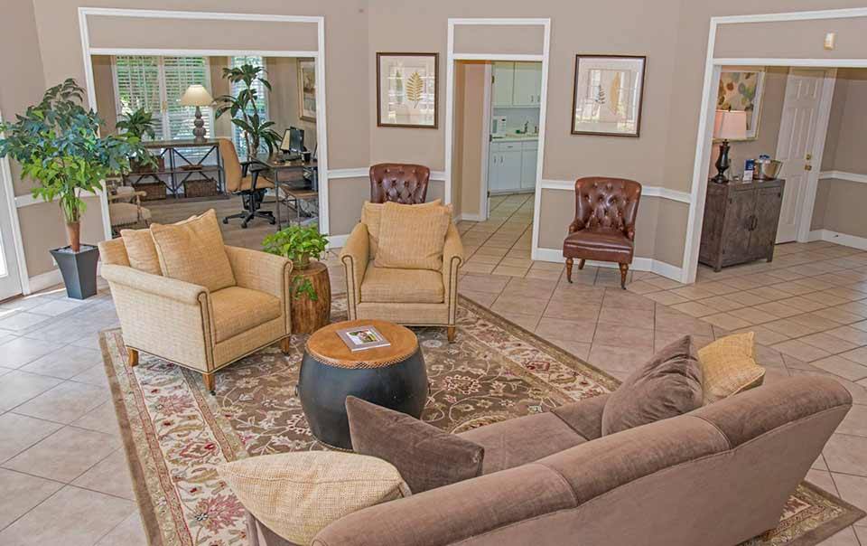 Greystone at Main Street Apartments Corporate stay clubhouse interior view