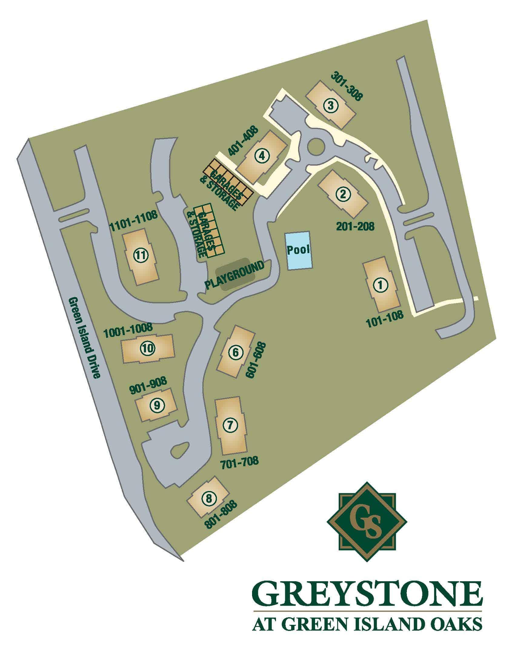 Greystone Properties Green Island Oaks Apartments Columbus, GA Site Plan