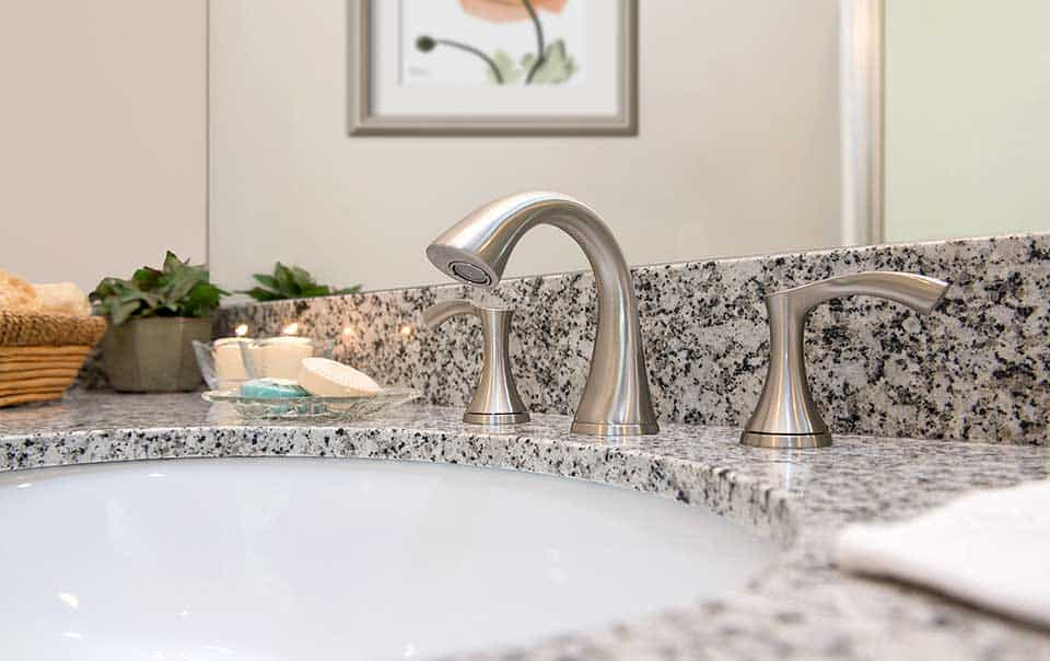 Granite vanity at Greystone at Green Island Oaks Columbus GA Apartments