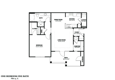Greystone Properties Columbus, GA Apartments One bedroom with deck