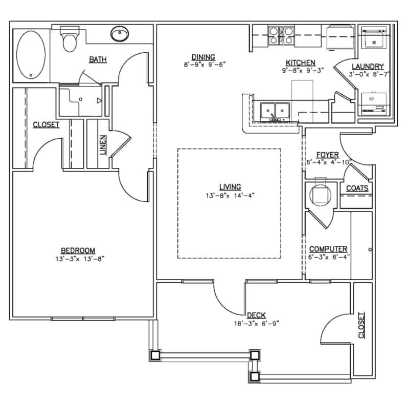 One bedroom apartment Summit