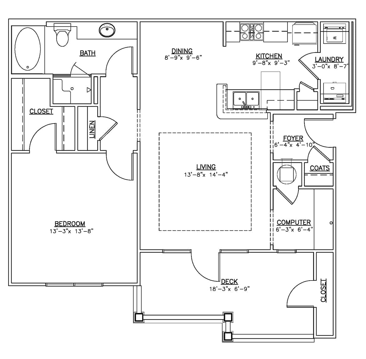 One bedroom apartment Summit
