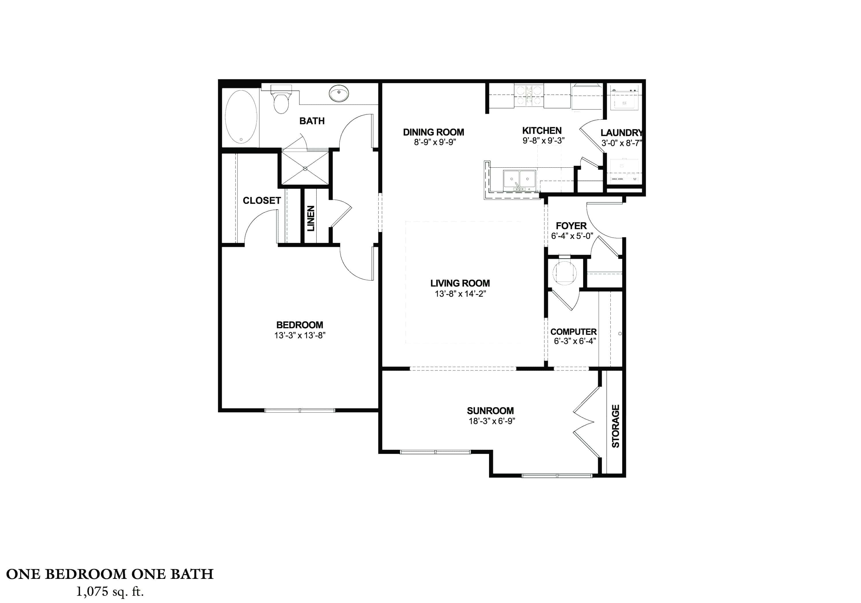 One Bedroom (ASR) Approx. 1,075 sq. ft. with Sunroom From $885 Beds 1 Baths 1 Apply Now The Wedgewood Approx. 1,405 sq. ft. From $1,015 – $1,045 Beds 2 Baths 2 Apply Now Three Bedroom (C) Approx. 1,655 sq. ft. Total – approx. 1,569 sq. ft. with 86 sq. ft. Deck or Patio< From $1,155 Beds 3 Baths 2 Apply Now