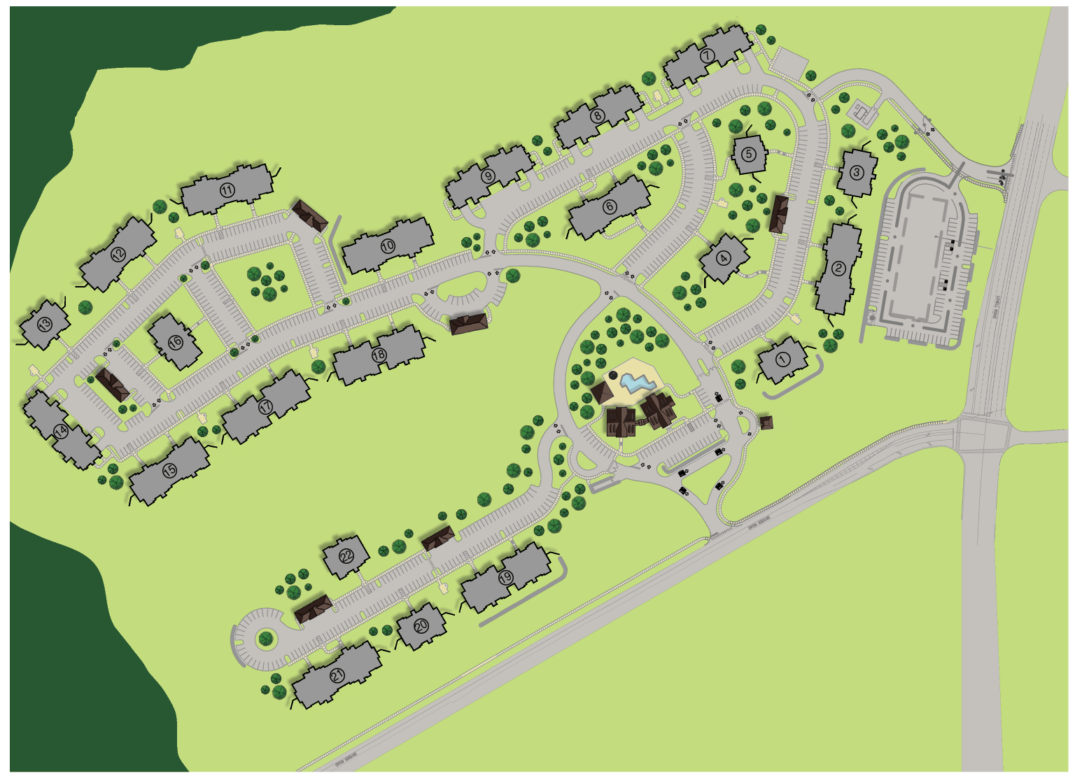 Greystone Pointe Knoxville, TN Site Plan