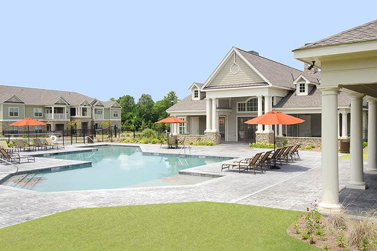 Greystone at Riverchase Clubhouse Pool with Covered Cabana