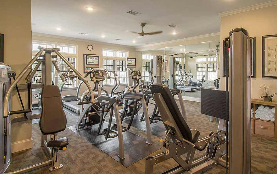 Greystone Summit Apartments workout room Columbus GA