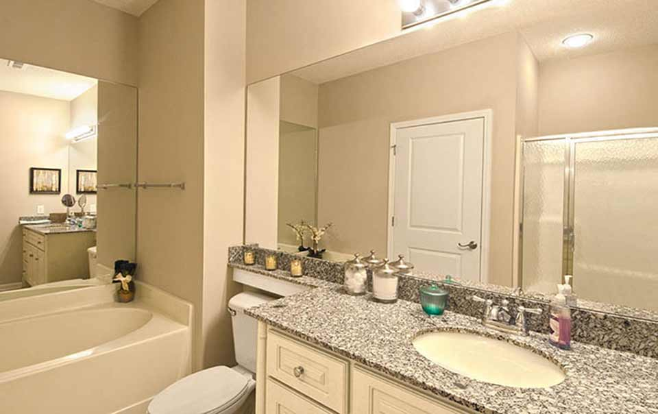 Bath with separate shower at Greystone Properties Knoxville,TN Apartments