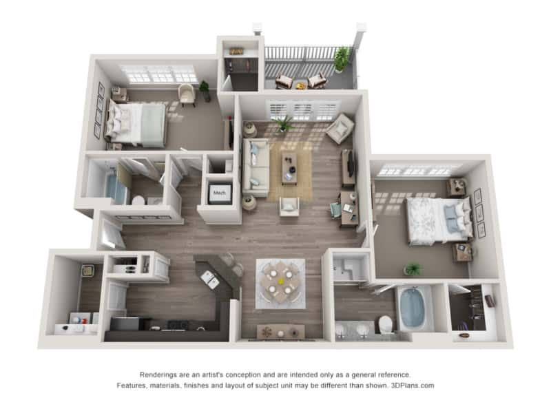 GREYSTONE POINTE APARTMENTS IN KNOXVILLE TN two bedroom floor plan sunroom attached garage