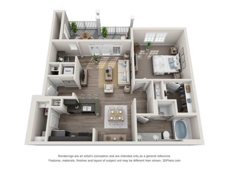 GREYSTONE POINTE APARTMENTS IN KNOXVILLE TN one bedroom floor plan
