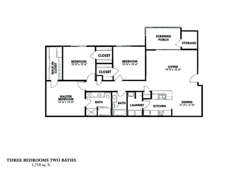 Greystone Properties Columbus, GA Apartments three bedroom two baths screened porch
