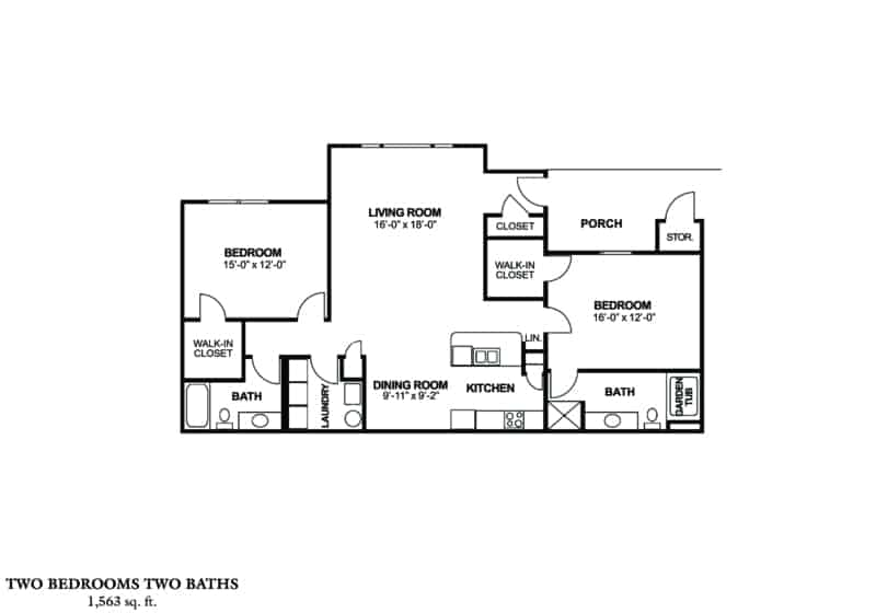 Greystone at Inverness Columbus GA Apartments two bedroom floorplan
