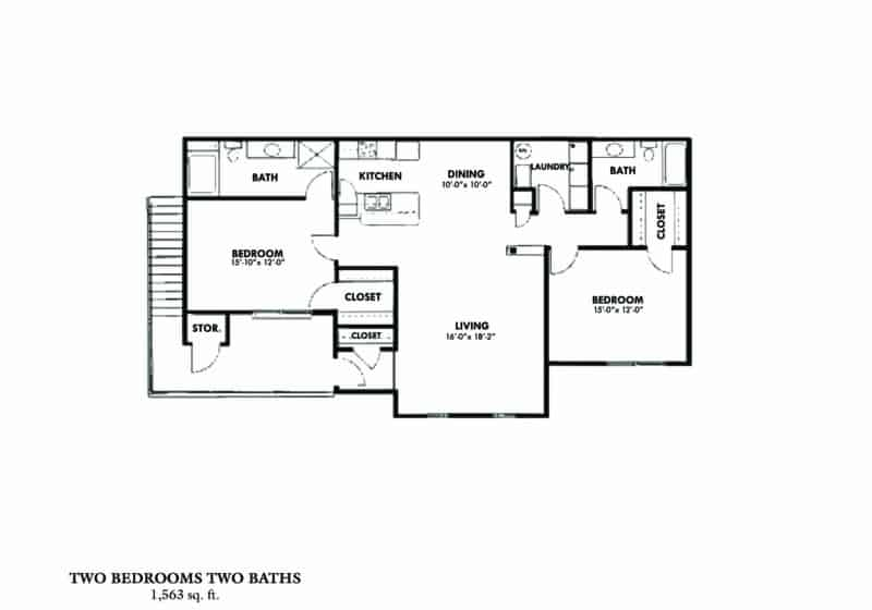 Two bedroom C A Greystone Properties Columbus, GA Apartments