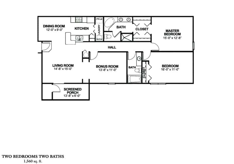 Great floor plan in Green Island Oaks Corporate Stay Two Bedroom, two Bath, furnished and ready for you