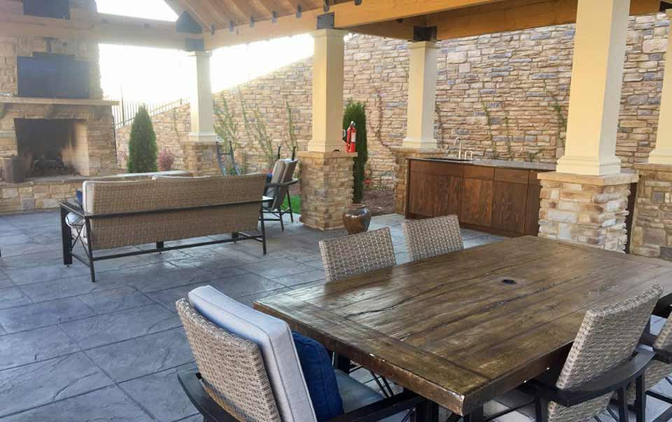 Greystone Apartments Knoxville, TN outdoor fireplace and Cabana