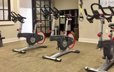 Greystone Apartments Knoxville, TN Vista Spinning area in gym