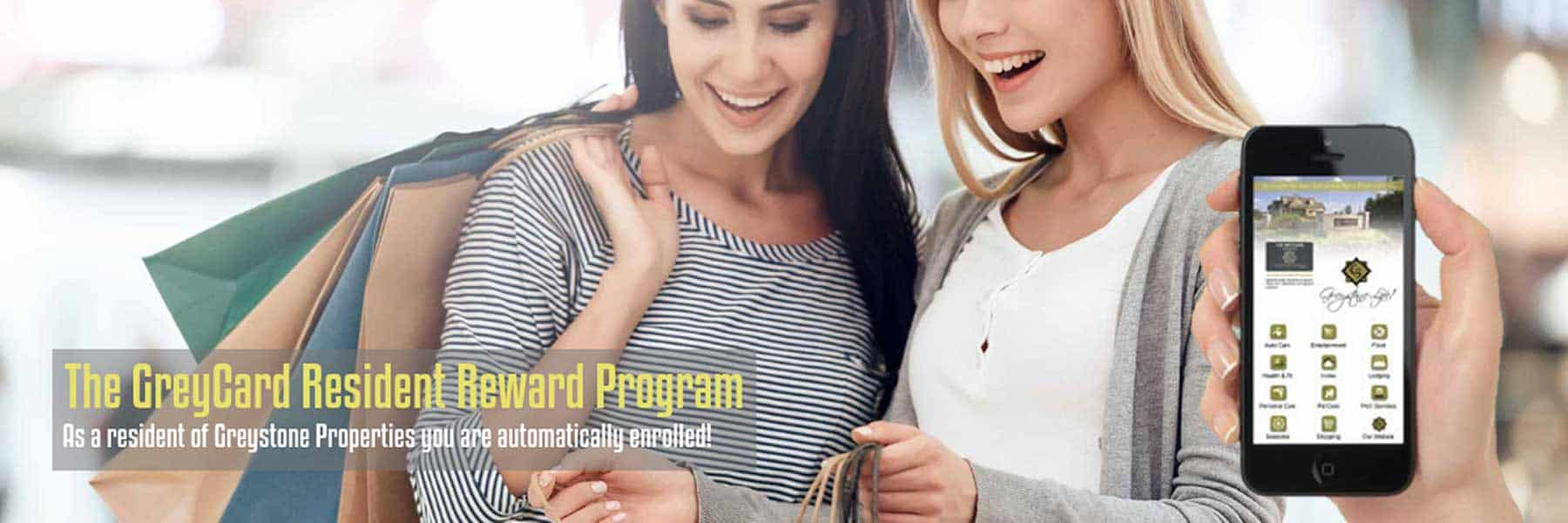 Greystone Apartments in Columbus GA offer The GreyCard Resident Reward Program