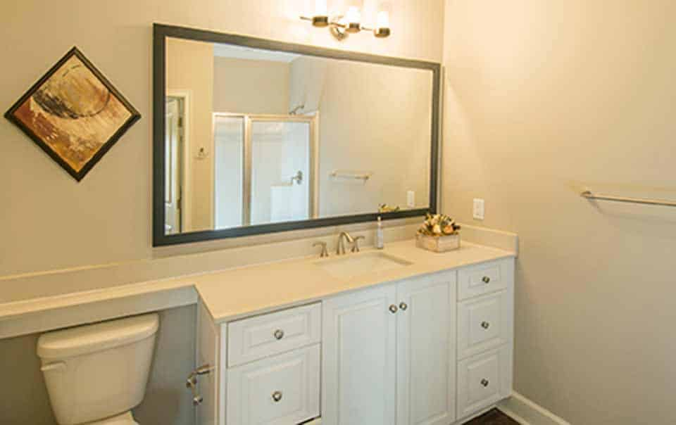 Greystone at Oakland Apartments lavatory with large counter