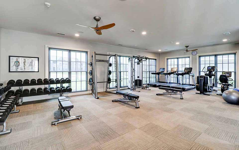 Greystone at Oakland Apartments fully equipped gym