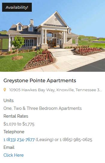greystoneproperties. greystone-vista- apartment homes knoxville TN