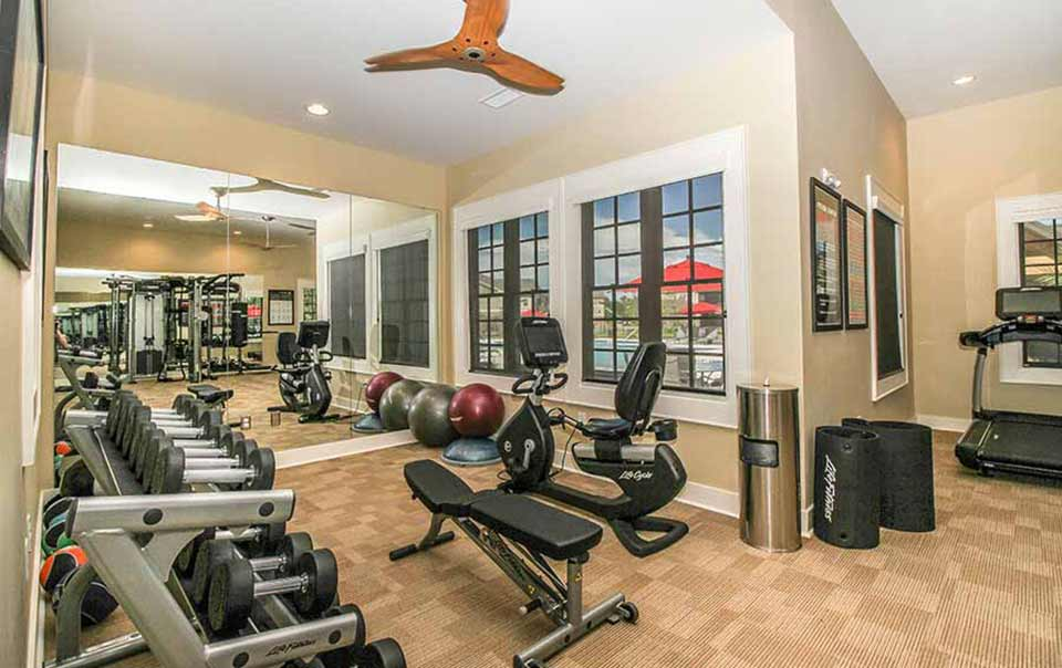 Dumbells at greystone properties gulf breeze reserve apartments