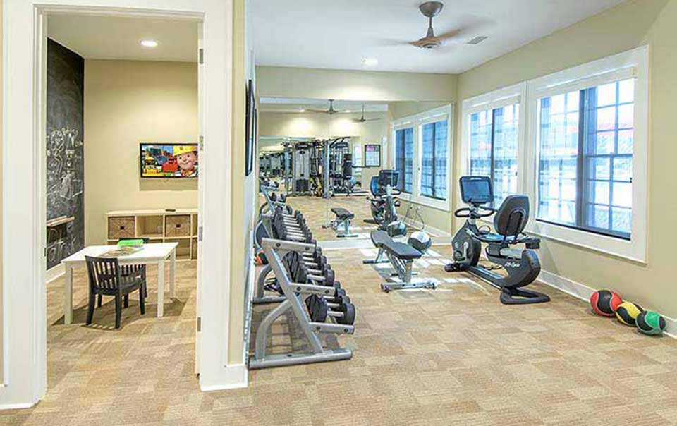 greystone properties gulf breeze reserve apartments children's area at gym