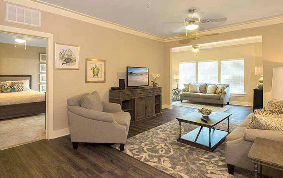 greystone properties gulf breeze reserve apartments view of sunroom
