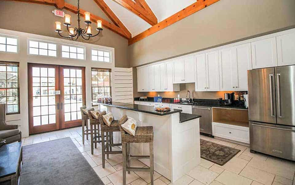 greystone properties gulf breeze apartments club house kitchen
