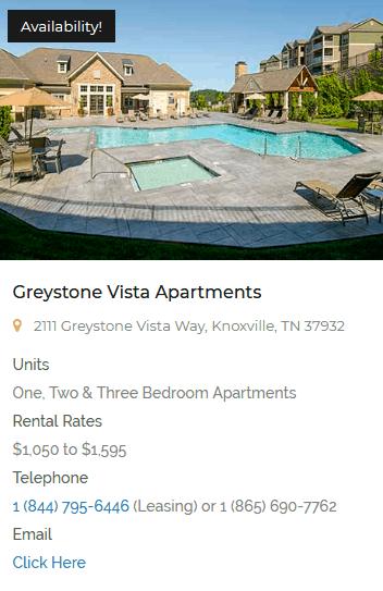 Greustpme Properties Vista Apartment Homes Knoxville, TN