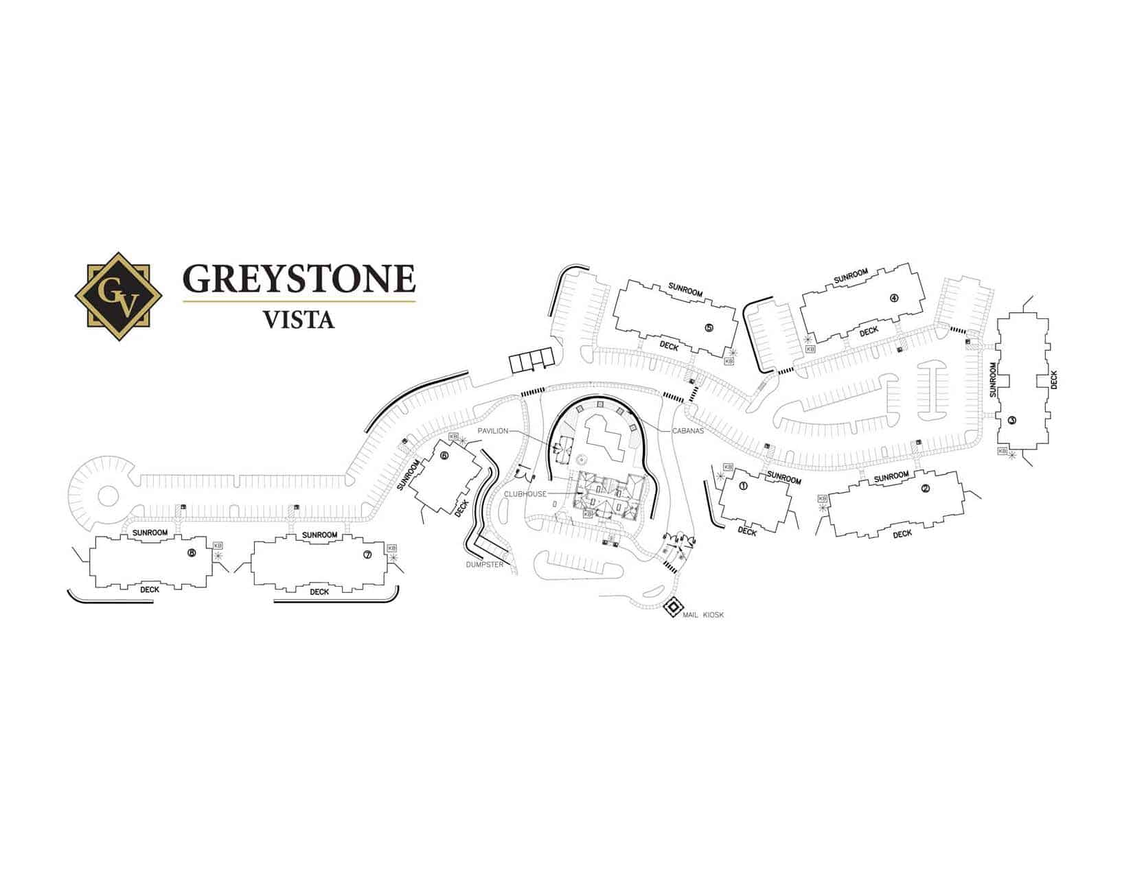 Greystone Properties Apartments Vista Knoxville Site Plan